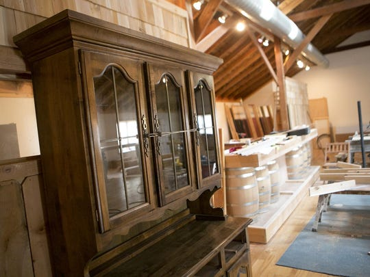 Inside the future tap room of Sunset Point Winery.