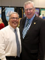 Sam Susser (left) and Nueces County Judge Loyd Neal