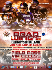 Dutchess Stadium hosts a celebrity softball game on  June 20, featuring Odell Beckham and Brad Wing.