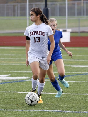 Elmira senior Kendra Oldroyd has scored 103 career goals and helped the Express to two Section 4 championships.