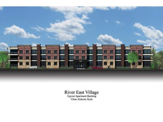 A rendition of what River East Village would look like.