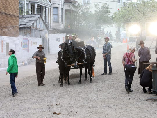 "Filming for the Cinemax series ""The Knick"" took place May 6, 2015 on Elm Street and Oak Street in Yonkers, as they transformed the area with old-time facades, dirt roads and horse and buggies."
