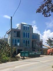 A new home, seen Thursday, Sept. 14, 2017, is under
