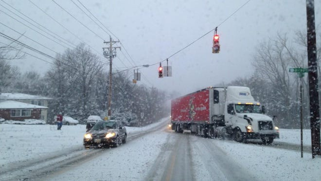 Sharon Road at Northland Blvd. in Forest Park on Wednesday morning