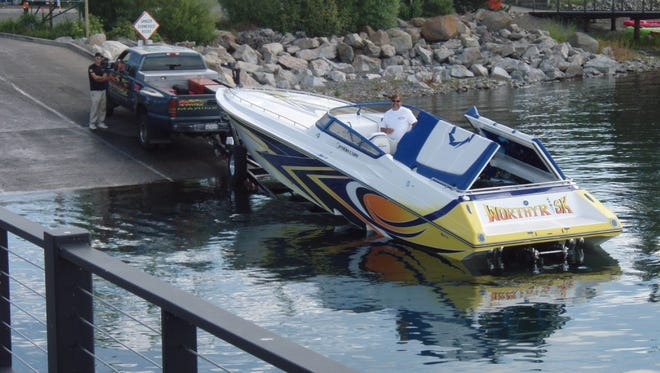 A submitted photo of a boat at   Lake Forest.