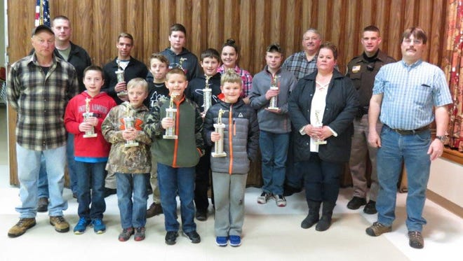 These students placed in the Manitowoc Parks and Recreation Department's rifle program match. Pictured are: back row, from left: Instructor Bryan Wetak, Daniel Stonebreaker, Jacob Tienor, Emma Lulloff, Logan Jonas, Instructor Dave Kerry and Lt. Dan Hartwig; middle row, from left: Mitchell Cerkas, Lucas Siebold, Kelly Reimann and Instructor Dan Smith; and front row, from left: Instructor Casper Koenig, Mason Jonas, Dawson Disch, Sawyer VanDrisse and Turner Sorenson.
