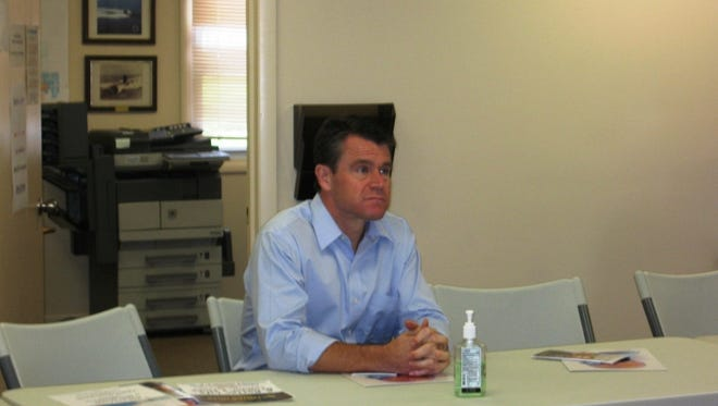 Indiana Sen. Todd Young came to Liberty on Friday to learn more about Union County's drug treatment program,