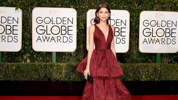 Zendaya at the 73rd Annual Golden Globe Awards on January