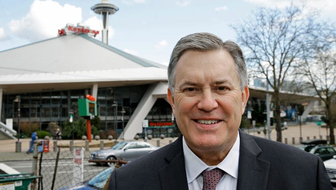 Tim Leiweke, head of the Oak View Group, is expected to submit a proposal for a renovation of KeyArena, which formerly was home to the NBA's Seattle SuperSonics.