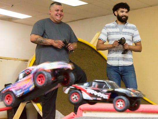Owners of 3 Crosses RC Racing and Repair Daniel Sanchez,