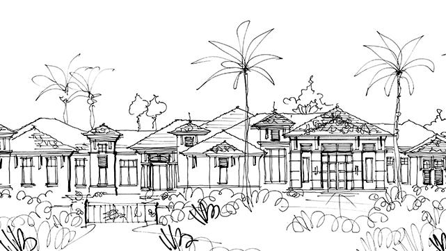 Artist rendering of Diamond Custom Homes newest home in Grey Oaks Golf & Country Club in Naples.