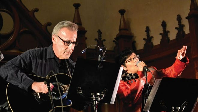Common Fence Music opens a new online concert series, Spotlight on the Local Scene, on Sunday, Sept. 27 at 7 p.m., with John and Joanne. John and Joanne are John Monllos and Joanne Rodino, seen here.