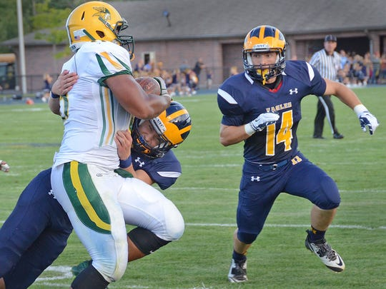 Hartland's first-team defense held Grosse Pointe North to negative offensive yardage in Thursday's 26-7 season-opening win.