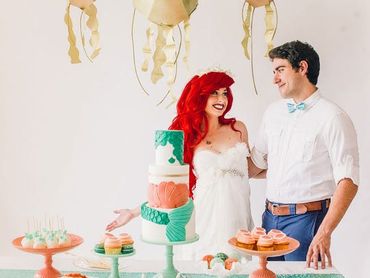 Eric and Ariel share a special moment.