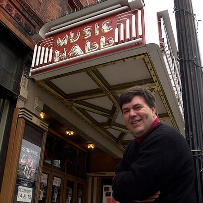 Kevin Meaney poses outside the Tarrytown Music Hall