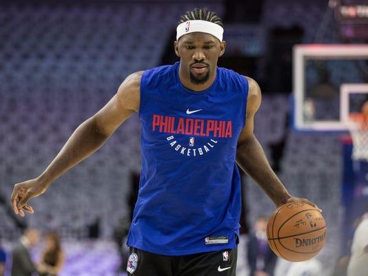 USP NBA: BOSTON CELTICS AT PHILADELPHIA 76ERS S BKN PHI BOS USA PA