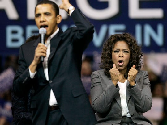 Oprah Winfrey was an influential backer of the 2008 presidential campaign of then-senator Barack Obama.