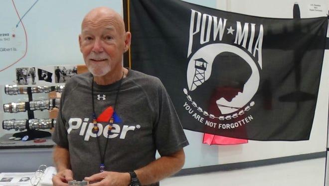 Bob Trimble flew to the Palm Springs Air Museum Saturday to donate a Vietnam-era POW/MIA bracelet. He was on his way home to Santa Barbara when he crashed in the San Bernardino Mountains.