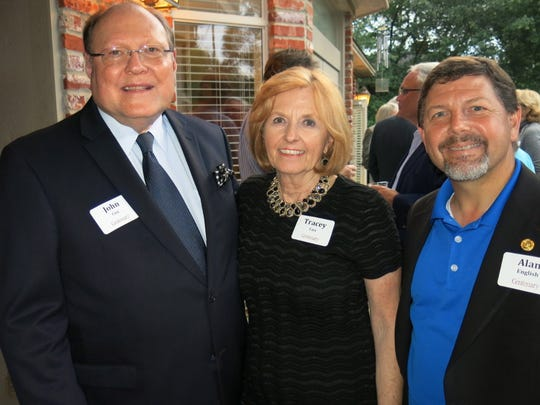 John and Tracey Cox and Times President Alan English