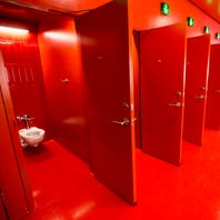 New Phoenix Theater doesn't have public men's and women's bathrooms. Just gender-neutral ones.