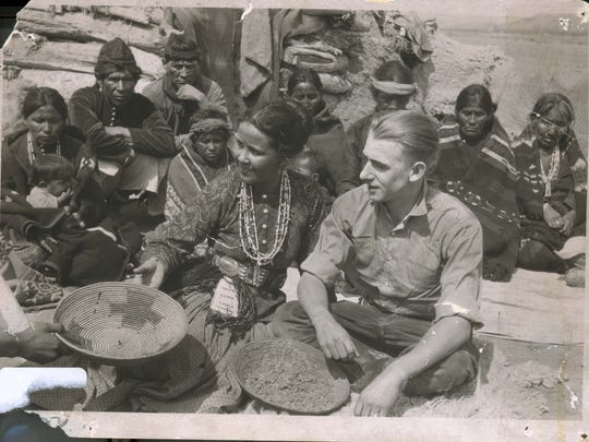 """A still from the 1908 production """"For the Love of a Navajo,"""" the first film shot in Farmington."""