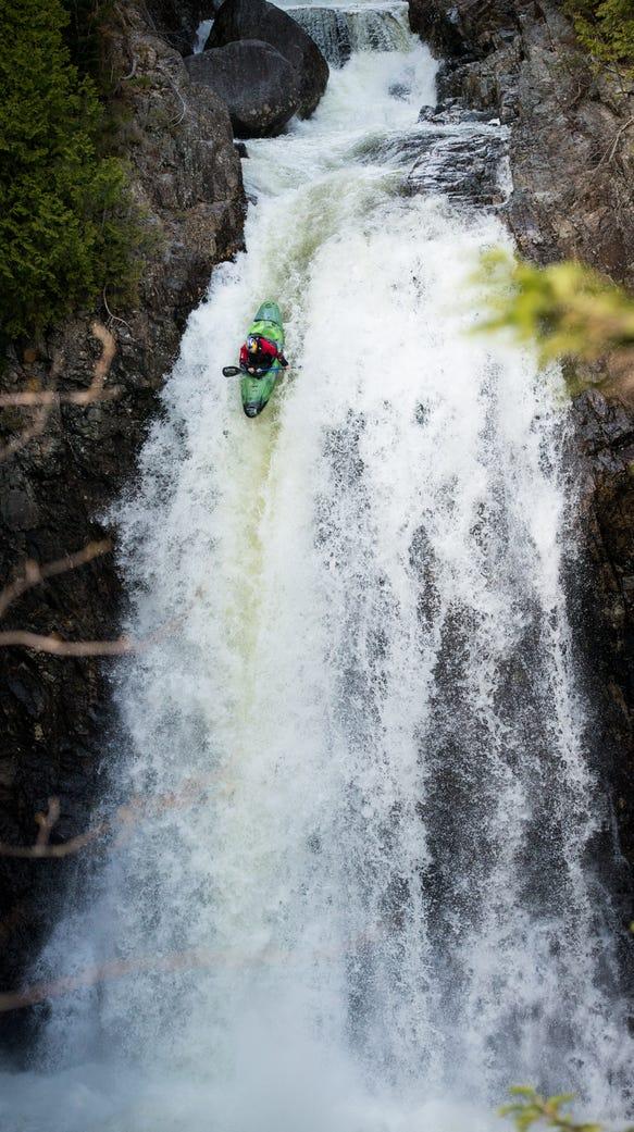 Steve Fisher kayaks Hanging Spear Falls in 2014.