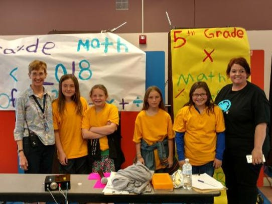 The 5th-grade math bowl winning team was called the Equilateral Bosses from Jessica Trujillo's class at White Mountain Elementary.