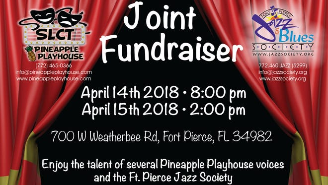 St. Lucie Community Theatre's Pineapple Playhouse will be filled with musical selections performed by your favorite jazz musicians and the thespians from St. Lucie Community Theatre's impressive stable of actors and performers.