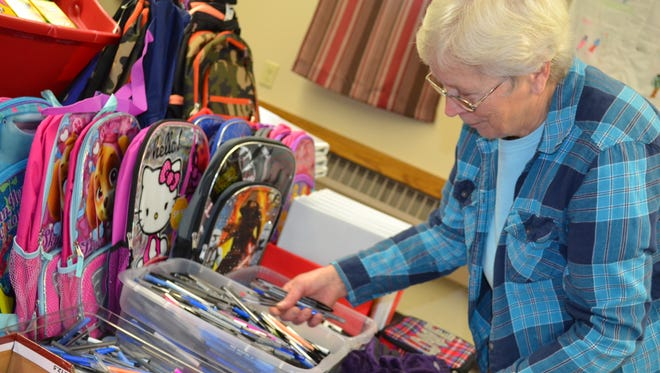 Carol Franks, head of the School Supply Giveaway, said about 50 bags of supplies were given away at the first event in 2009. In 2015, about 500 children received free supplies.