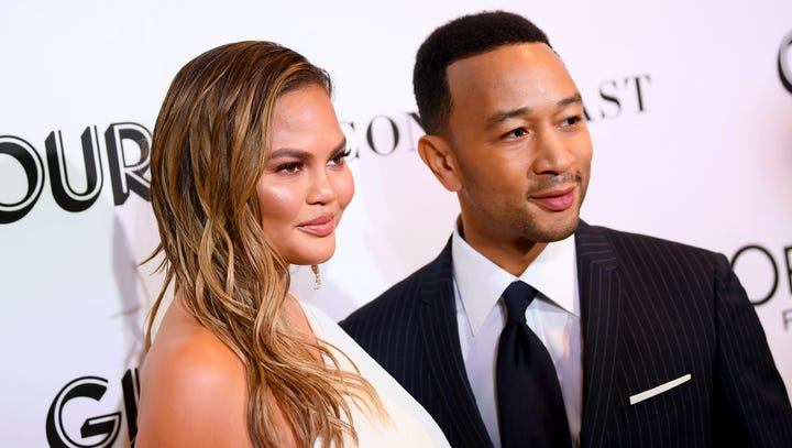 Chrissy Teigen and hubby John Legend attend the  Glamour