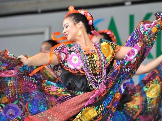 Dancers from Raices Mexicanas de Detroit perform at a previous Arts, Beats & Eats event in Royal Oak.