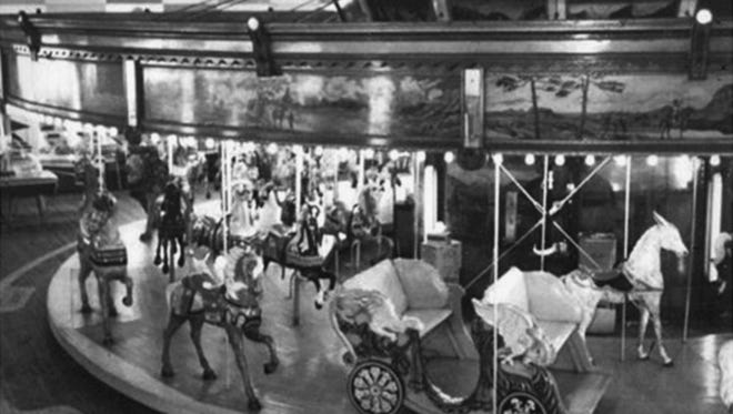 The carousel at Leon's Amusements at Long Branch, now defunct.