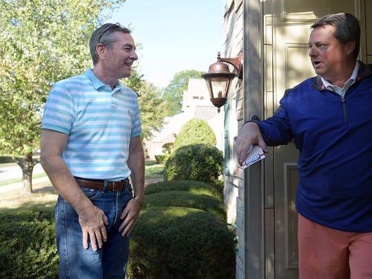 State Rep. Glen Casada knocks on Greg Hooker's door