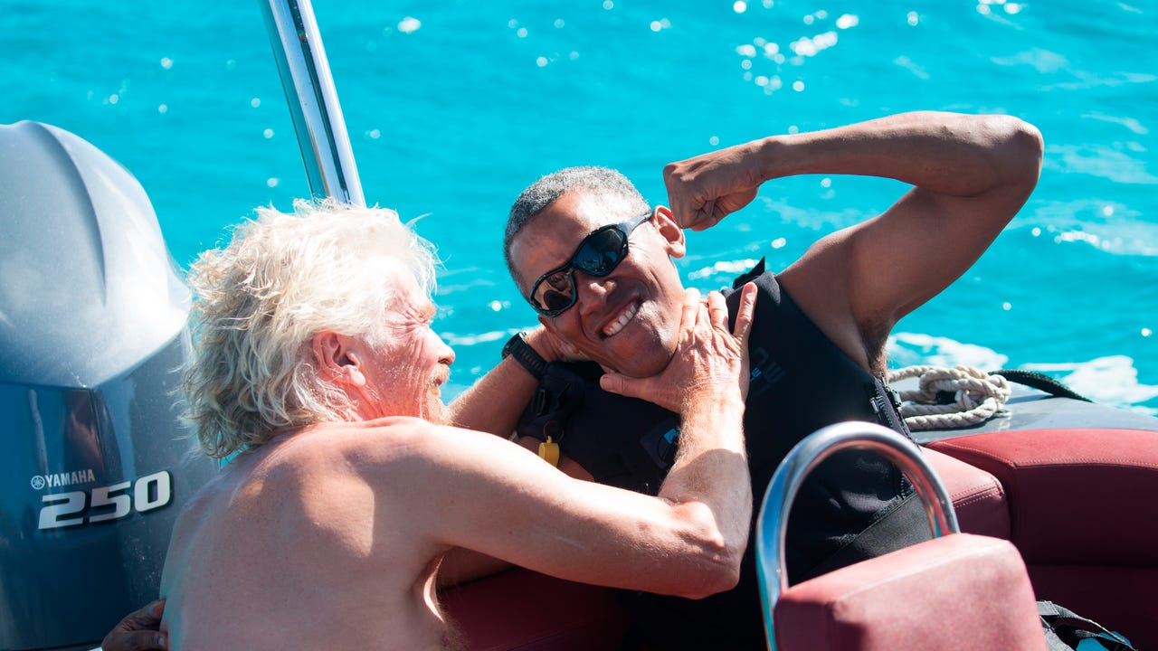 Watch: Obama is the MVP of vacations, kiteboards with Richard Branson