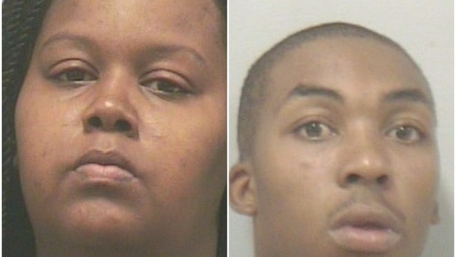 Jenifer York, 33, left and DeWayne Turner, 24, have been charged with manslaughter-culpable negligence in the deaths of their 1-year-old and 3-year-old daughters, who died in a house fire. Authorities said no adults were home at the time.