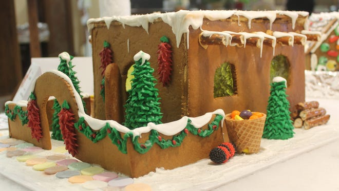Annette Joyner created this adobe-style gingerbread house for First National Bank's Village of Hope. This is entry No. 25 and proceeds for the entry are designated to go to Mountain View Middle School FACS.