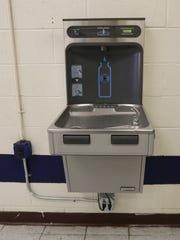 A newley installed water fountain with filtration system