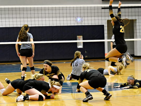 Red Lion celebrates a 3-1 win over York Suburban during
