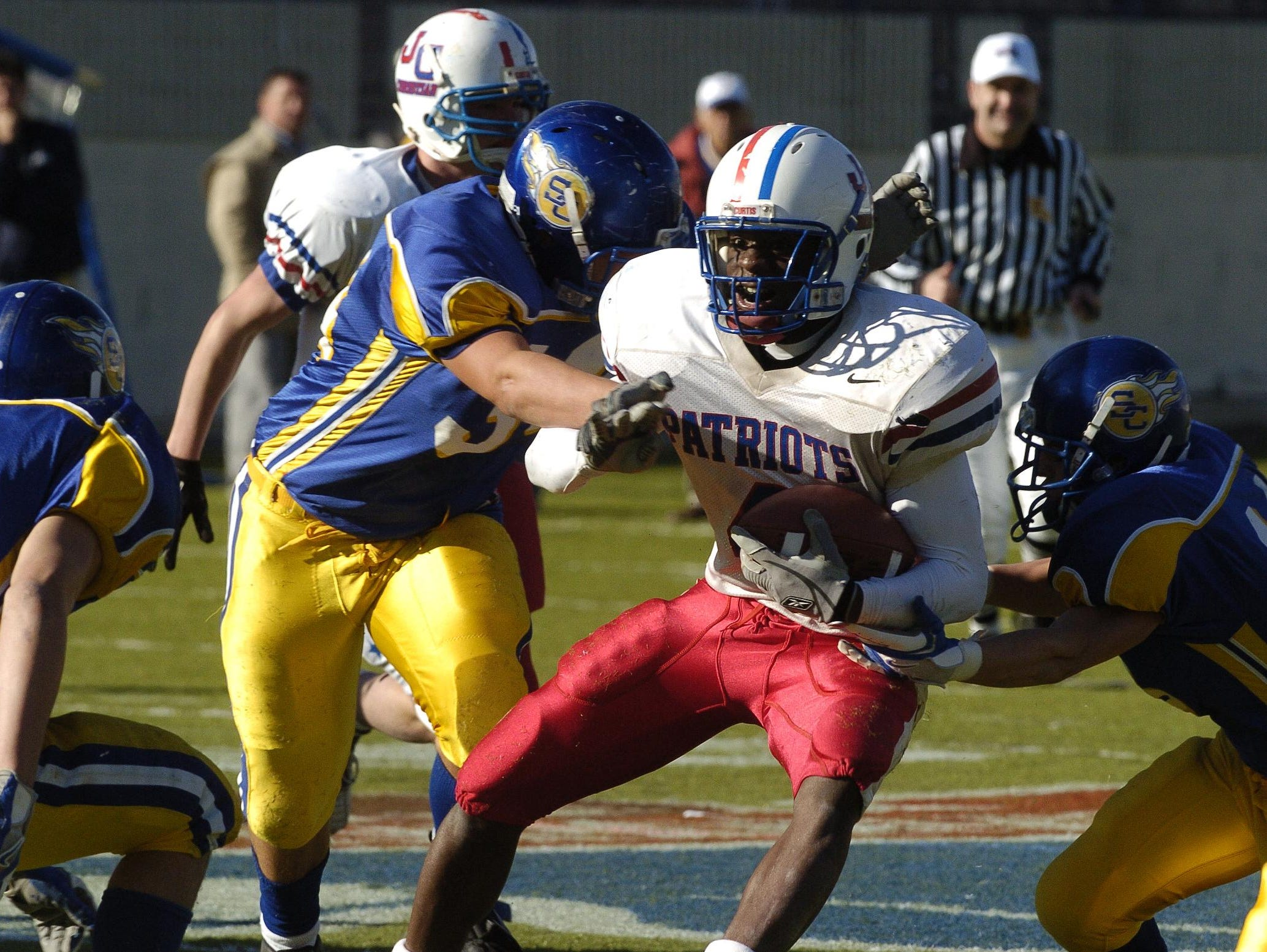Former John Curtis wide receiver Joe McKnight (4) was named his team's most oustanding player in the 2005 Class 2A state championship game against St. Charles Catholic at Independence Stadium in Shreveport.