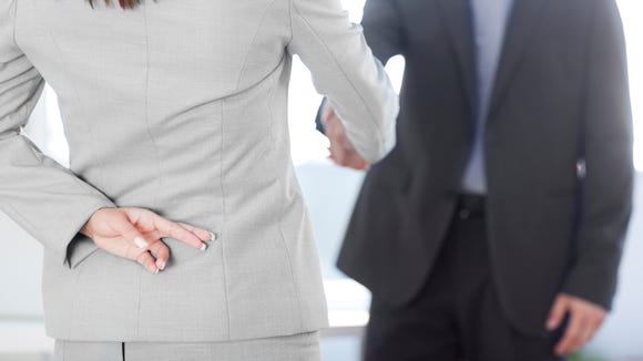 A third of employers say they're seeing more people lie on resumes since the recession, according to a recent survey.