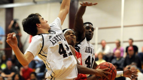 The Asheville High and Erwin boys basketball teams will play for a third time Friday.