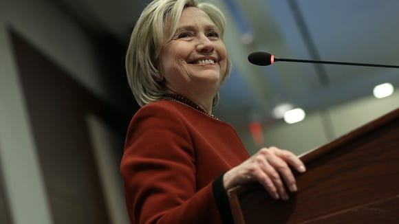 Democratic presidential front-runner Hillary Clinton