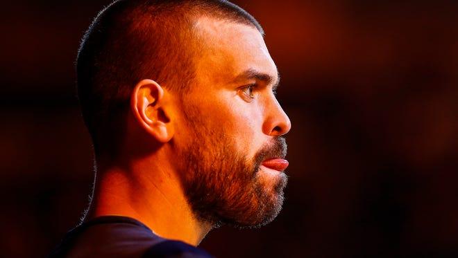 Memphis Grizzlies center Marc Gasol before action against Dallas Mavericks at the FedExForum.