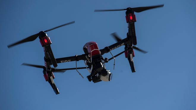 Don't fly a drone near a wildfire or you should shut down efforts to put out the fire.