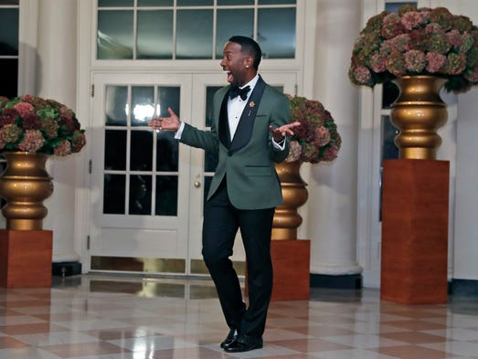 Hairstylist Johnny Wright : Hairstylist Johnny Wright arrives at the White House. Alex Brandon, AP