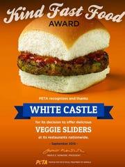 White Castle's Veggie Slider (all vegan)