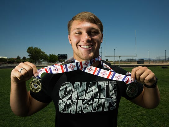 Forest McKee, the Sun News Male Athlete of the year,