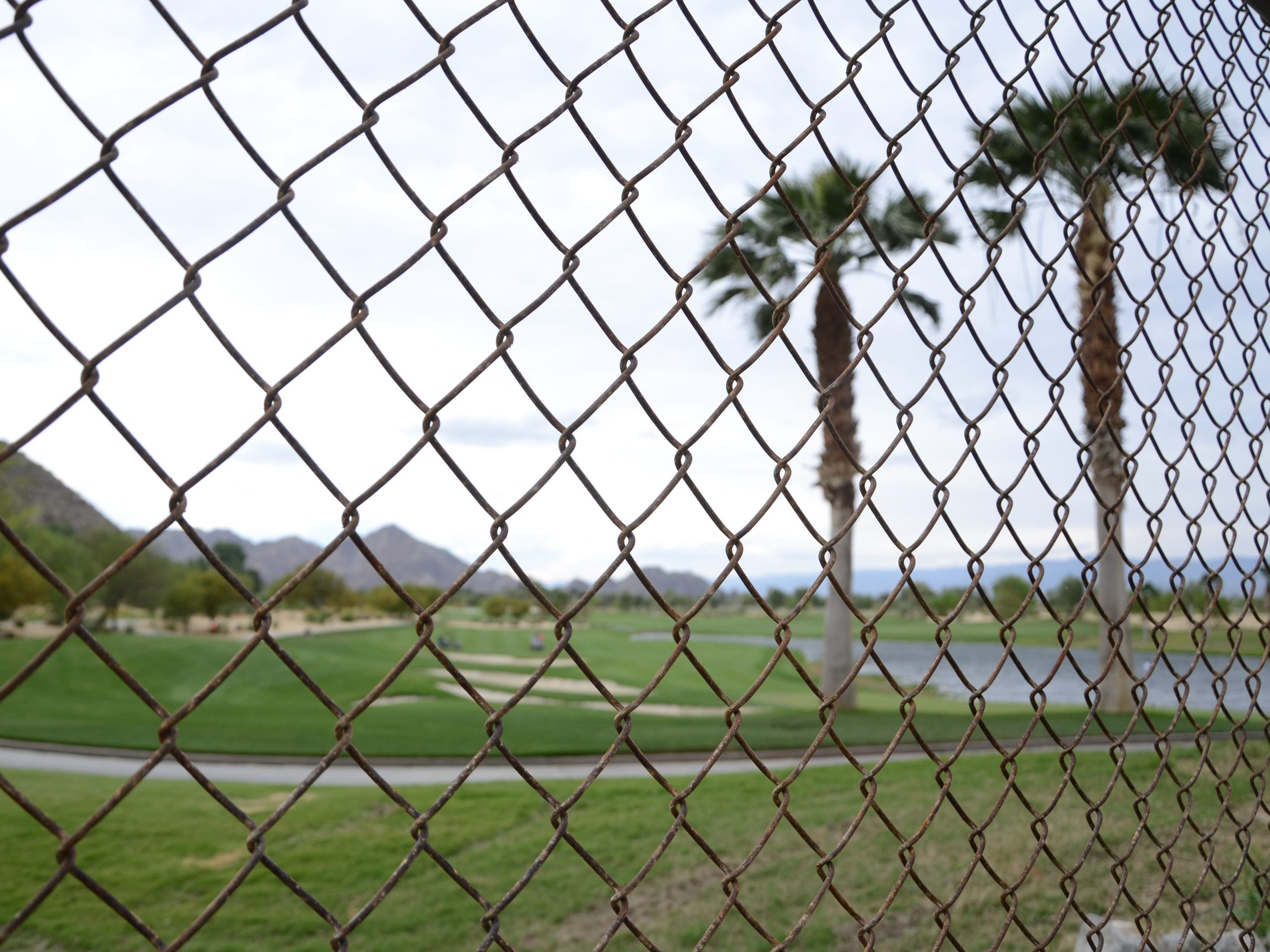 A temporary fence has been installed at SilverRock