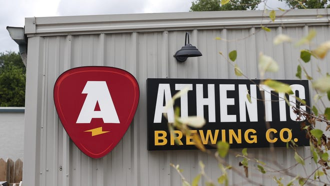 Athentic Brewing Co. on Park Avenue in Athens, will officially open on Saturday with curbside service.