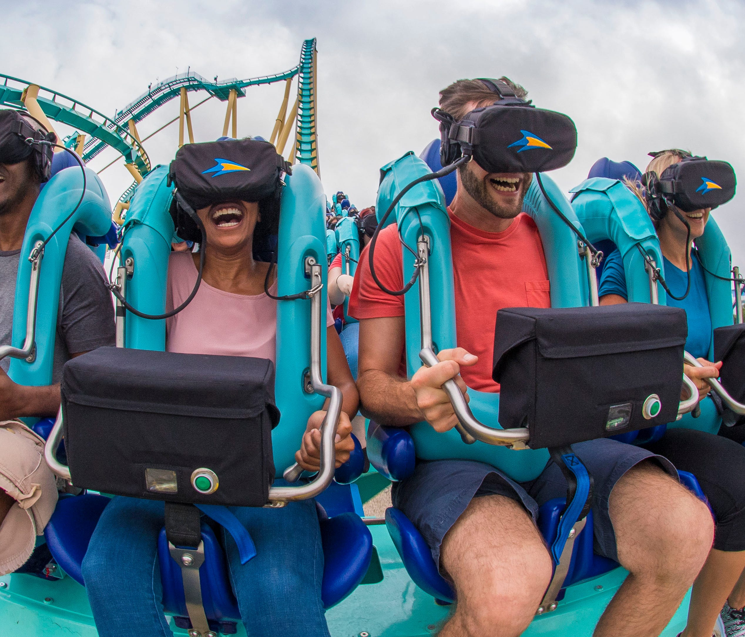 Virtual reality has so far mostly been used as an overlay on existing rides. Due to limitations in factors such as image quality, gear portability, and glitchy performance, it remains largely a novelty at parks.